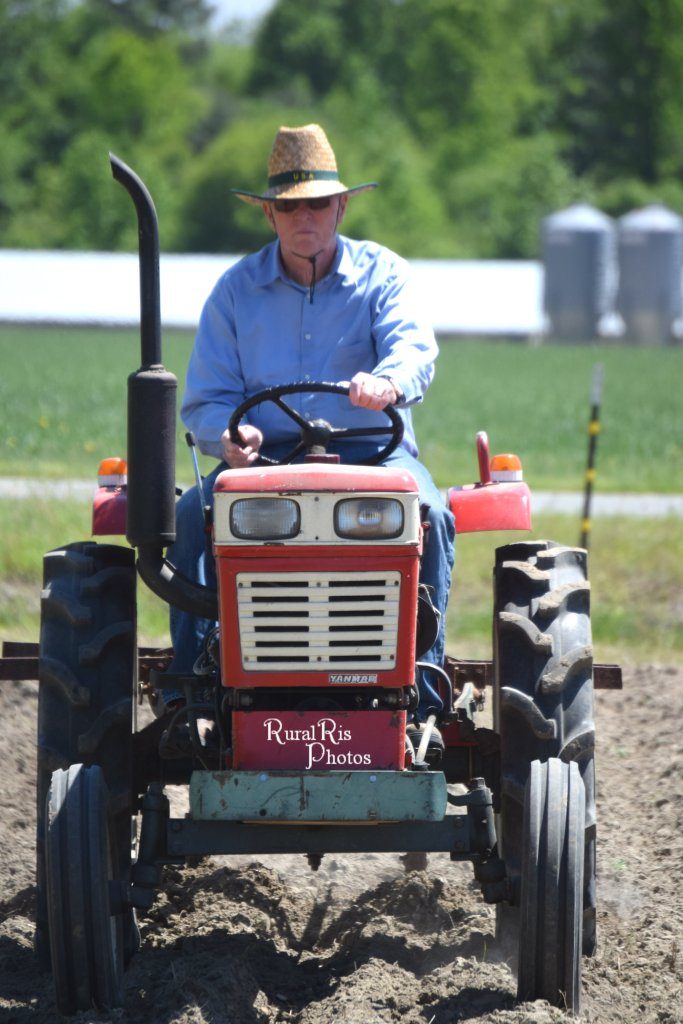 papa on tractor